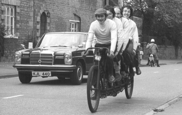 Quint bicycle riders 1972